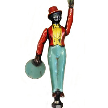 Black Man Marching Band Leader With Cymbals Car Mascot 1925 - Classic Cars