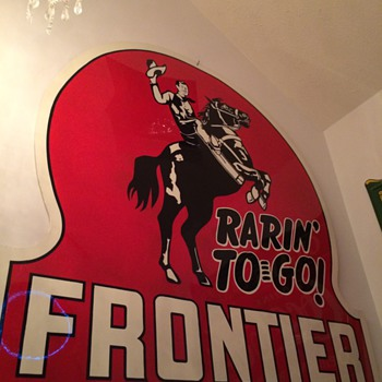 Frontier Gasoline Sign