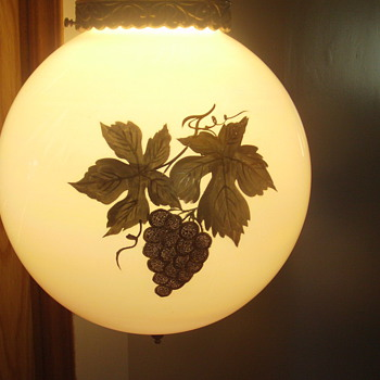 Hand painted vintage hanging lamp