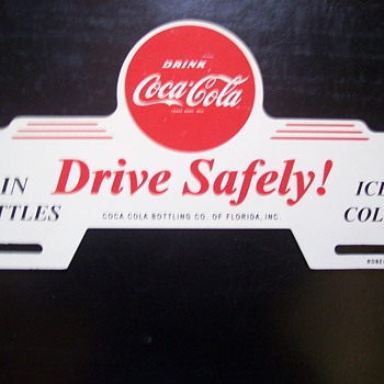 Coca-Cola License Plate Topper - Signs