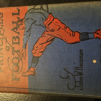 Autographed copy of John Heisman's Principals of Football.