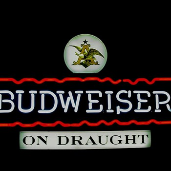 Bud On Draught neon