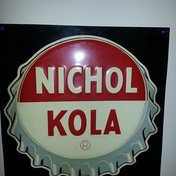 Nichol Kola 1930s bottle cap sign - Signs