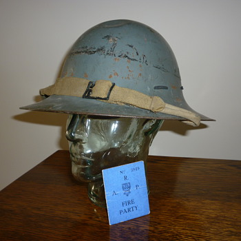 British WWII Zuckerman Civil Defence helmet 1941 - Military and Wartime