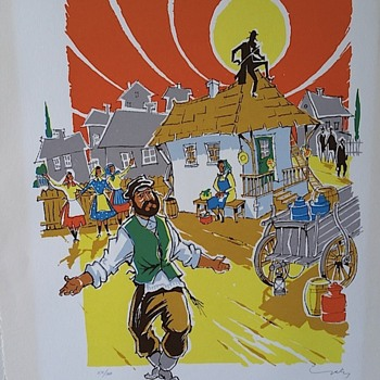 Fiddler on the roof print