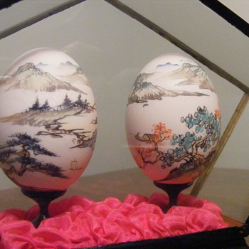 Eggs in a display case