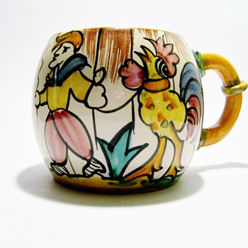 VINTAGE ITALIAN MUG / DATES 1930-1950 - Art Pottery
