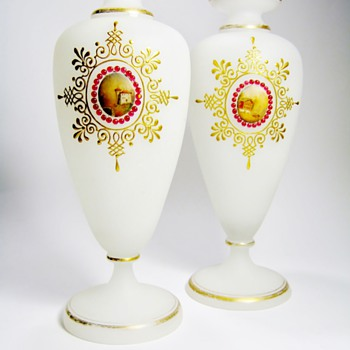 ANTIQUE BOHEMAIN VASES  - Art Glass
