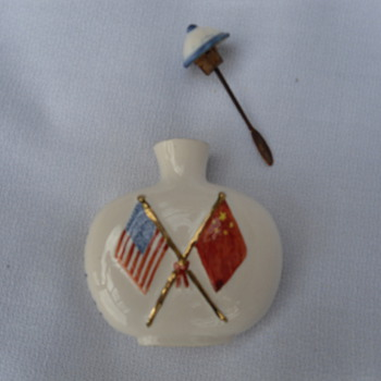 President Nixon &amp; Chairman Mao Snuff Bottle - 1972 - Asian