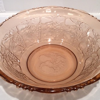 Large vintage glass  bowl - Glassware