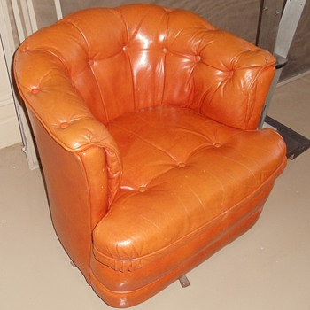 Vintage Orange Barrel Chair?