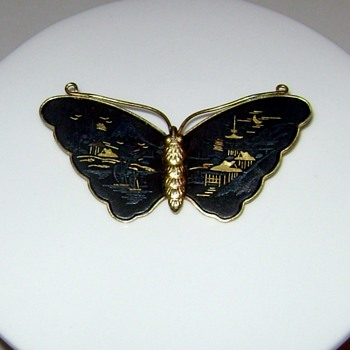 Amita Japan Butterfly Brooch