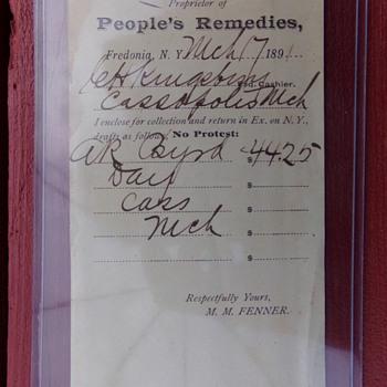 1891 Receipt