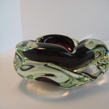Sommerso ashtray - Art Glass
