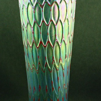 RARE MONUMENTAL RINDSKOPF HONEYCOMB VASE - Art Glass