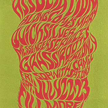 First psychedelic rock poster? - Posters and Prints