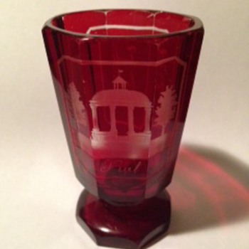 Hungarian red glass Souvenir?
