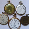Small collection of old pocket watches &amp; 1941-46 calendar