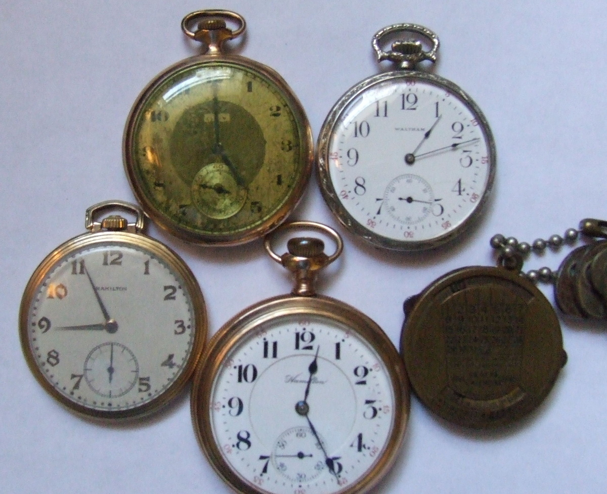 small collection of pocket watches 1941 46 calendar