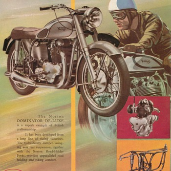 1954 Norton Dominator Motorcycle Advertisement - Advertising
