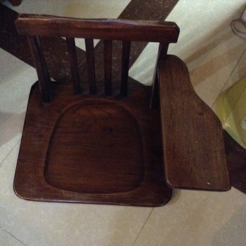 Japanese Antique School floor chair?