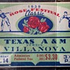 TEXAS A&M vs VILLANOVA 1938 Full Ticket