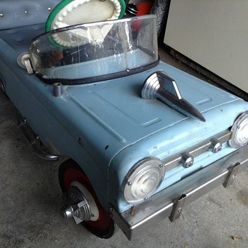 VINTAGE AMF CUSTOMIZED 51 FORD PEDAL CAR