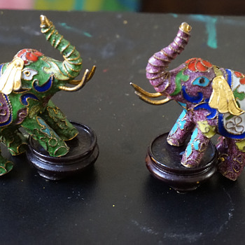 Cloisonne Elephants
