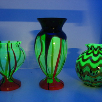 vaseline/uranium glass 2 - Art Glass