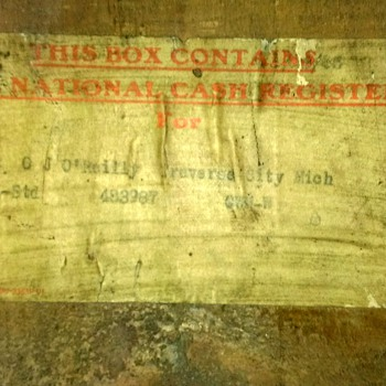 National Cash Register CO. shipping crate - Advertising
