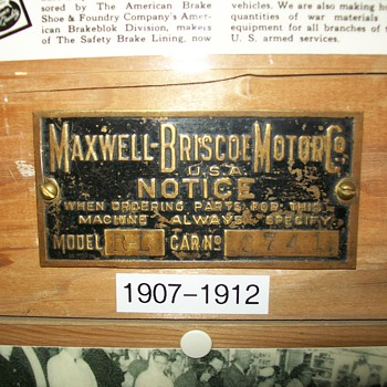 Maxwell brass tags - Signs