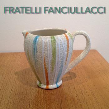 FRATELLI FANCIULACCI MODERNIST STUCCO JUG