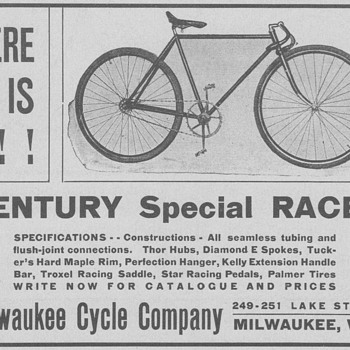 1902 Milwaukee Bicycle Advertisement - Advertising