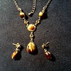 Vintage Avon NR Necklace and Ear Rings / Circa 20th Century