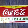 "11"" x 45"" Metal Coke Sign"