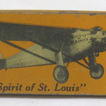 Charles Lindbergh Pencil Box - Advertising