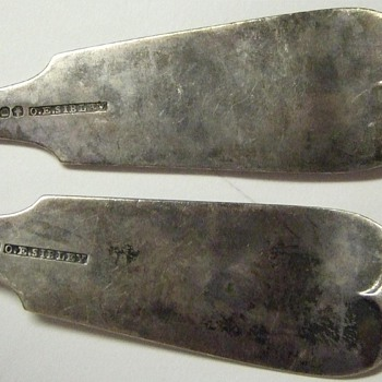 Mid 1800's(?) Sterling Silver Spoons w/ Hallmark and Hand Tooled - Sterling Silver