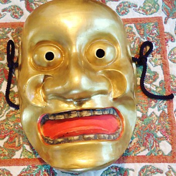 Japanese ceramic Noh mask Tobide, and unknown ceramic mask from? - Art Pottery