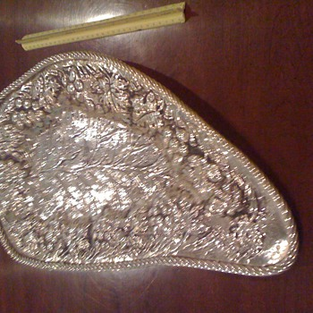 Hand wrought silver tray