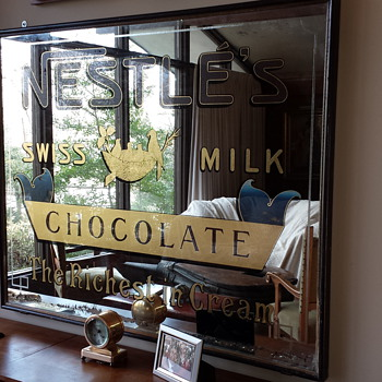 Antique Nestles Milk Chocolate Mirror