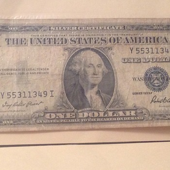 1935 silver certificate  - US Paper Money