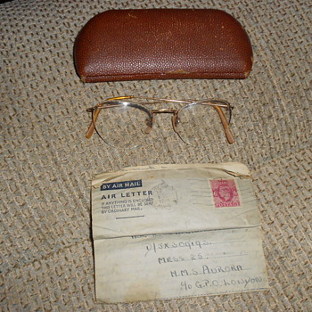 ww2 hms aurora love letter to mr E.singleton from miss I.riding.  - Military and Wartime