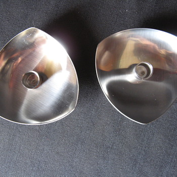 VINTAGE STELTON - DENMARK  CANDLE HOLDERS STAINLESS 18/8