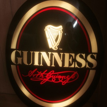 Light up oval Guinness sign