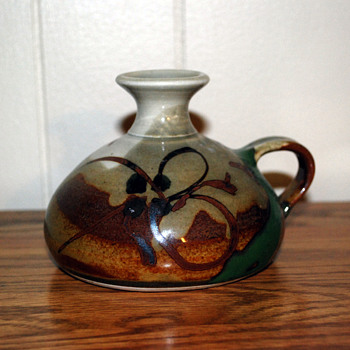 Small Vase/Pot  with One Handle - Pottery