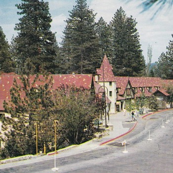 Lake Arrowhead Village Postcard 1955
