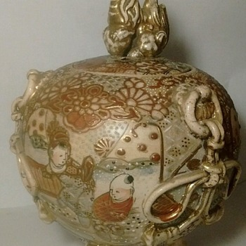 Meiji Period Temple Jar....