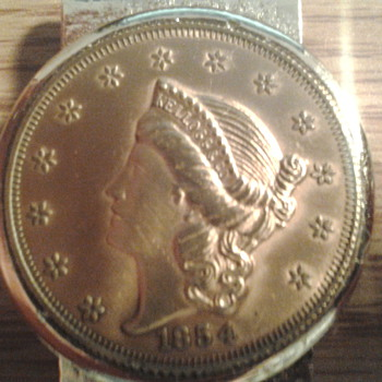 1854 kellogg & co coin - Gold