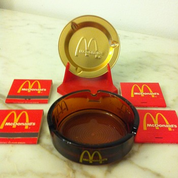 McDonalds Ashtrays and Match Collection - Tobacciana