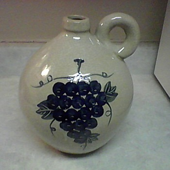 LARGE STONEWARE WINE JUG - Art Pottery